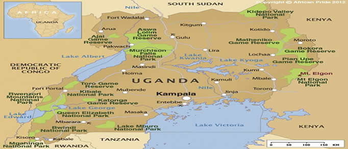 Map Of Uganda National Parks Uganda Attractions My Uganda Safaris - Uganda map