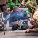 Batwa-making-fire